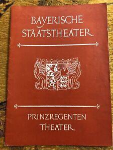 Munich Opera Programme Der Rosenkavalier 1958 - Annelies Kupper, Kurt Bohme