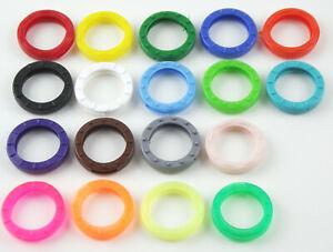 Schlüsselkennringe Schlüsselkennring Schlüsselkappe (rund) 24mm in 18 Farben