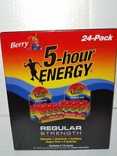 24 PACK 5 HOUR ENERGY REGULAR STRENGTH BERRY 1.93 FL OZ EACH 10/2020 ORIGINAL