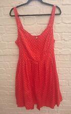 Joe Browns Red & White Polka Dot Spot Summer Dress Plus Size UK 20 Vintage Style