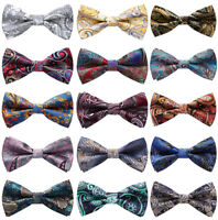 Paisley Floral Pre Tied Mens Bow Tie Adjustable Formal Tuxedo Wedding Party Ties