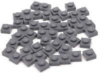 LEGO - 50 x Basic Platte 1x1 dunkelgrau / 3024 NEUWARE