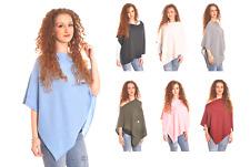 Womens Ladies Super Soft 100% Luxury Cashmere Shoulder Poncho/Cape