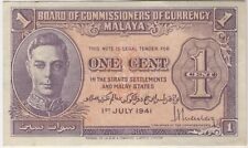 1941 Malaya One Cent Bank Note | Bank Notes | Pennies2Pounds