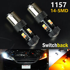 JDM ASTAR 2pcs 1157 Dual Color Switchback Led Turn Signal Light Function Kit 12V