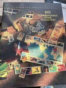 1991 Commemorative Stamp Collection Yearbook USPS  Set Album with Stamps