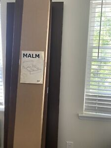 IKEA Malm KING Brown Bed Frame Open Box