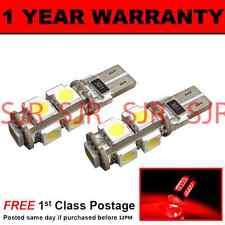 W5W T10 501 CANBUS ERROR FREE ROSSO 9 LED LUCE DI CORTESIA LAMPADINE X2 HID