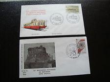 FRANCE - 2 enveloppes 1984 1986 (murol/cheminots) (cy50) french