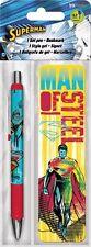 SUPERMAN - GEL PEN & BOOKMARK - BRAND NEW - MAN OF STEEL DC COMICS 3561