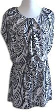 CROSSROADS Top ~ Ladies XS ~ Paisley Print with Chain Link  Belt ~ MBC
