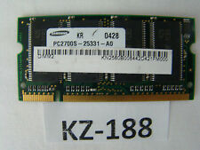 256MB RAM Speicher PC2700S-25331-A0 DDR CL2.5  2185532-44229 #KZ-188