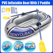 1 Man Person Inflatable Kayak Canoe Oars Pump Dinghy Boat With Paddle Oar