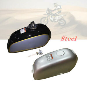 Motorcycle ATV Cafe Racer Steel Fuel Gas Tank&Cap Switch Fit for Honda BENLY50S