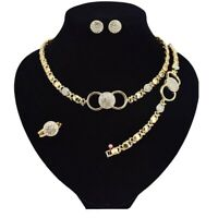# 2 HUGS & KISSES SET 18K LAYERED REAL GF XO EARRINGS (RING SIZE 9)
