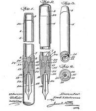 Antique/Old Waterman Fountain pen, penholder, desk Stand: History 1884 - 1960