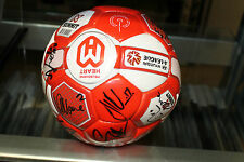 MELBOURNE HEART INAUGURAL TEAM SIGNED SOCCER BALL UNFRAMED + PHOTO PROOF & C.O.A
