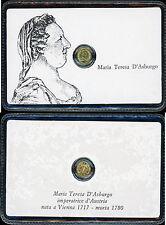 D850_MARIA TERESA D'ASBURGO,piccola moneta dorata commemorativa in bustina