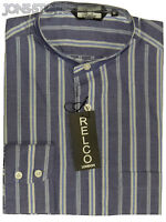 CLASSIC GRANDAD COLLAR VINTAGE MOD DESIGN MENS CASUAL SHIRT by RELCO