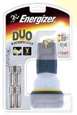 (E622348) TORCIA DUO RUBBER + 4AA ENERGIZER FLASHLIGHTS