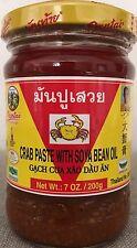 CRAB PASTE WITH SOYA BEAN OIL Pantai Brand Thai Seasoning NEW 7oz (200g) soy