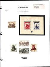 Czechoslovakia Tchécoslovaquie 1952 timbres anciens et blocs lot CZ556