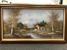 "Huge Painting Vintage Rare ""Oil on Canvas"" Framed - H. Wilson Original"