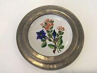 "Pewter Plate 9/"" Diameter Rare Antique 18th C Hallmark Crowned Rose"