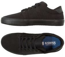K-Swiss Backspin Men Canvas Trainer Sporty Gym Sneaker Plimsole Shoe Black
