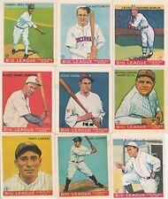 1933 REPRINTS Big League chewing gum baseball cards lot of 15