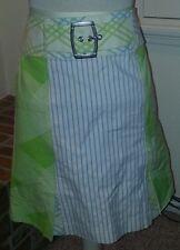 "Fabulous Custo Barcelona A-Line Skirt Euro 38/US sz 4 100% cotton 30"" w 20"" long"