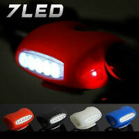 New Hot Sale Bike Bicycle Cycling 7 LED Silicone Safety Warning Head Light