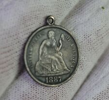 1887 Seated Liberty Dime Love Token - Nice Coin - No Reserve !!