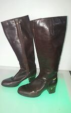 Palmroth tall boots good condition dark wine/brown color women's size 5.5