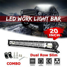 20inch 1200W Led Light Bar Dual Row Spot Flood Combo Work UTE Truck SUV ATV