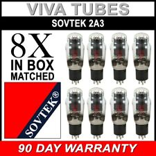 Plate Current Matched Octet (8) Sovtek 2A3 Triode Power Vacuum Tubes