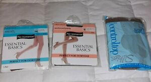 No Nonsense Silkies Panty Hose Knee Highs Lot Of 3 Size Large