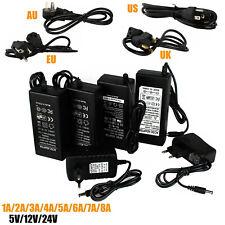 1A 2A 3A 5A 6A 7A 8A DC5V 12V 24V Power Supply Adapter Transformer For LED Strip