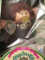1985 Vintage Cabbage Patch Kid Girl With Jumpsuit and Pacifier In Box New