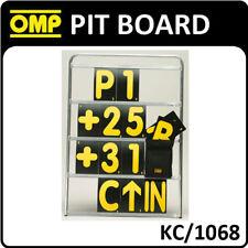 Kc/1068 OMP Aluminium Pit Board 100x72cm Numbers 23x14cm Race Track Kart