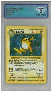 1999 Pokémon Base Shadowless RAICHU #14 Holo 💎 DSG 8 NM/MINT