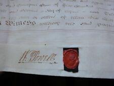 ANTIQUE 1795 HUGE Original INDENTURE Vellum Parchment GEORGE III Stamp 3 SEALS