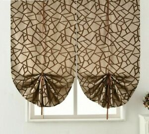 Short Roman Curtains Window Panels Home Decoration Treatments Drapes Curtain New