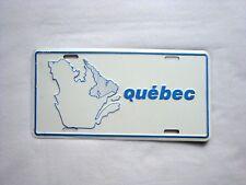 QUEBEC Vanity vintage Metal License Plate