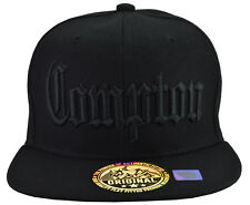 Compton KIDS   Black Hat Black Embroidered  with Adjustable Strap FreeShipping