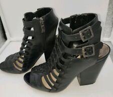 Vince Camuto Leather Peep Toe High Heel Booties Size 7.5