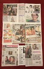 Rolling Stones Ronnie Wood Mick Jagger UK Newspaper Magazine Clippings Cuttings