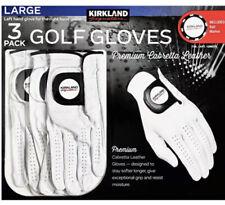 Kirkland Signature Men's Golf Gloves Premium Cabretta Soft Leather, 3 Pack Large