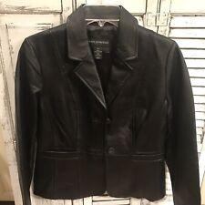Petite Sophisticates Leather Coat Blazer Size 6