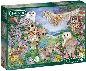 Jumbo 11286 Falcon de Luxe - Owls in The Wood 1000 Piece Jigsaw Puzzle